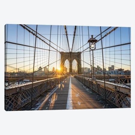 Brooklyn Bridge Canvas Print #JNB716} by Jan Becke Canvas Artwork