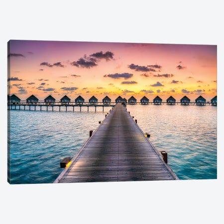 Luxury Beach Resort, Maldives Canvas Print #JNB71} by Jan Becke Canvas Art