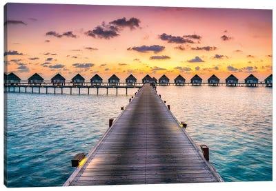 Luxury Beach Resort, Maldives Canvas Art Print