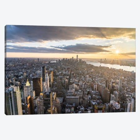 Lower Manhattan Skyline Seen From Emire State Building Canvas Print #JNB726} by Jan Becke Canvas Print