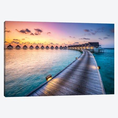 Luxury Beach Resort, South Ari Atoll, Maldives Canvas Print #JNB72} by Jan Becke Canvas Artwork