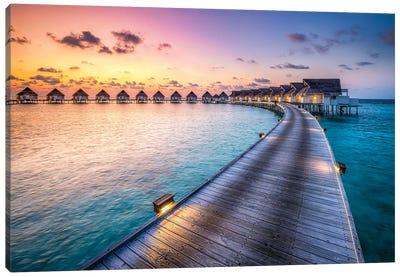 Luxury Beach Resort, South Ari Atoll, Maldives Canvas Art Print