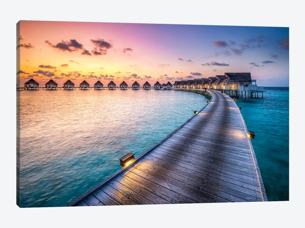 Luxury Beach Resort, South Ari Atoll, Maldives by Jan Becke 1-piece Canvas Wall Art