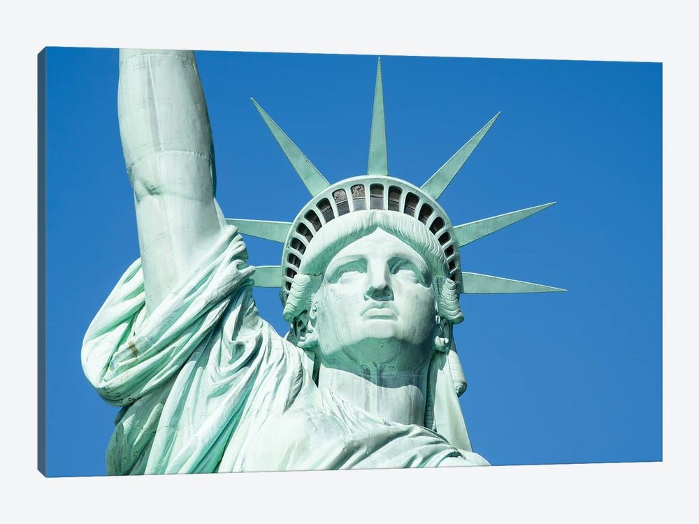 Statue Of Liberty's Crown by Jan Becke 1-piece Canvas Print