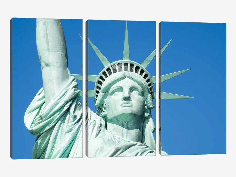 Statue Of Liberty's Crown by Jan Becke 3-piece Canvas Art Print