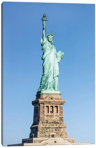 Statue Of Liberty On Liberty Island Canvas Art Print