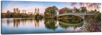 Central Park Panorama At Sunrise Canvas Art Print