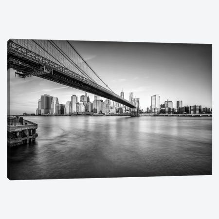 Brooklyn Bridge In Black And White Canvas Print #JNB770} by Jan Becke Canvas Print