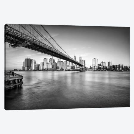 Brooklyn Bridge In Black And White Canvas Print #JNB770} by Jan Becke Canvas Print