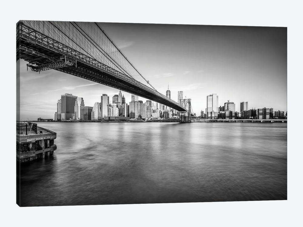 Brooklyn Bridge In Black And White by Jan Becke 1-piece Art Print
