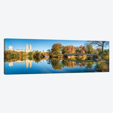 Bow Bridge At The Lake In Central Park, New York City, USA Canvas Print #JNB773} by Jan Becke Canvas Print