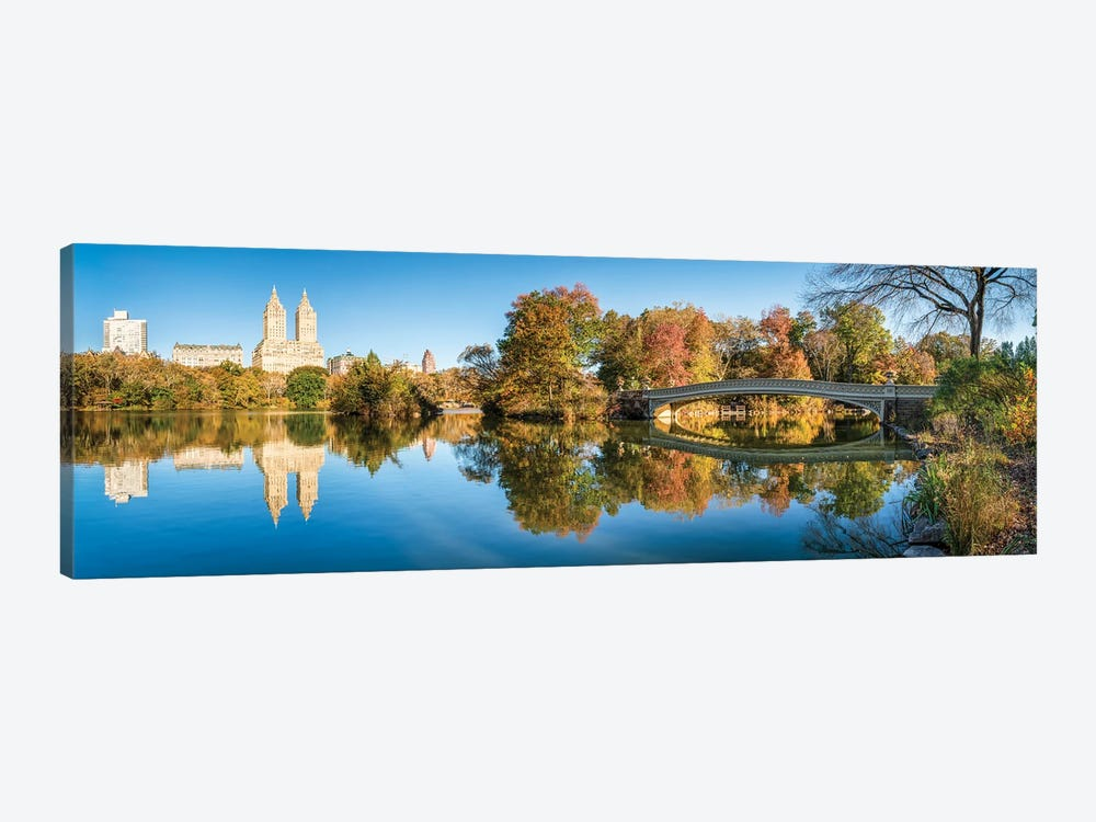 Bow Bridge At The Lake In Central Park, New York City, USA by Jan Becke 1-piece Canvas Art