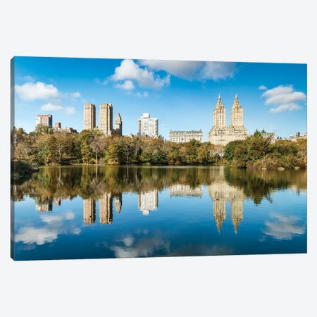 The Lake In Central Park, Midtown Manhattan, New York City Canvas Print #JNB774} by Jan Becke Canvas Art