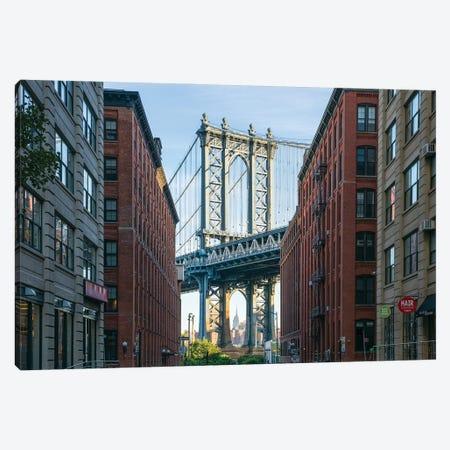 Manhattan Bridge View, Dumbo, Brooklyn, New York City Canvas Print #JNB779} by Jan Becke Art Print