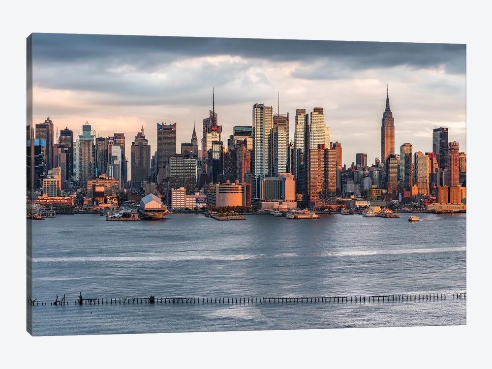 Manhattan Skyline And Hudson River, New York City, USA by Jan Becke 1-piece Art Print