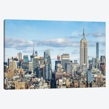 Manhattan Skyline With View Of The Empire State Building Canvas Print #JNB789} by Jan Becke Canvas Artwork
