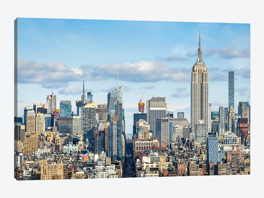 Manhattan Skyline With View Of The Empire State Building by Jan Becke 1-piece Canvas Print