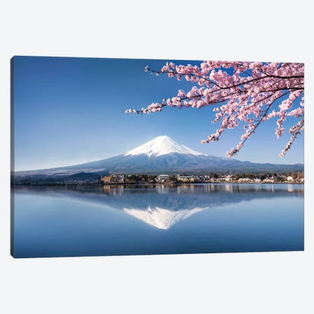 Mount Fuji In Spring Canvas Print #JNB78} by Jan Becke Canvas Art