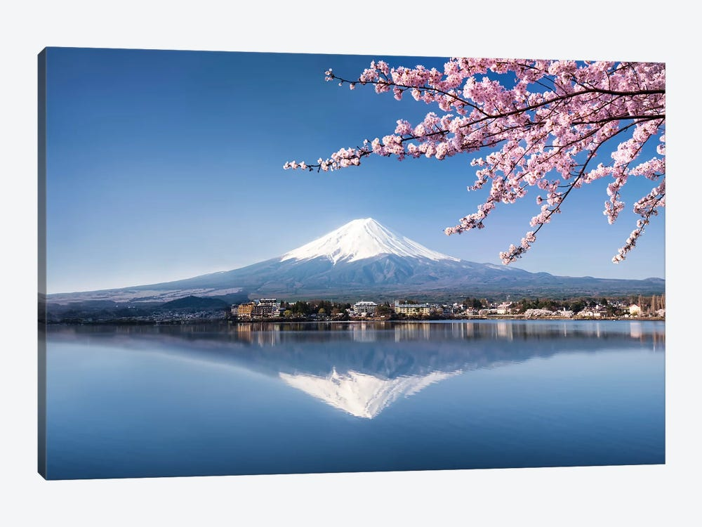 Mount Fuji In Spring by Jan Becke 1-piece Canvas Art