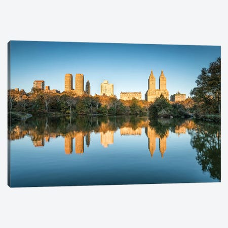 Sunrise At The Lake In Central Park Canvas Print #JNB796} by Jan Becke Canvas Art