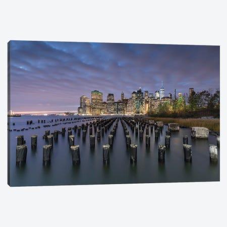 Pier 1 In Brooklyn With The Manhattan Skyline Canvas Print #JNB798} by Jan Becke Canvas Print
