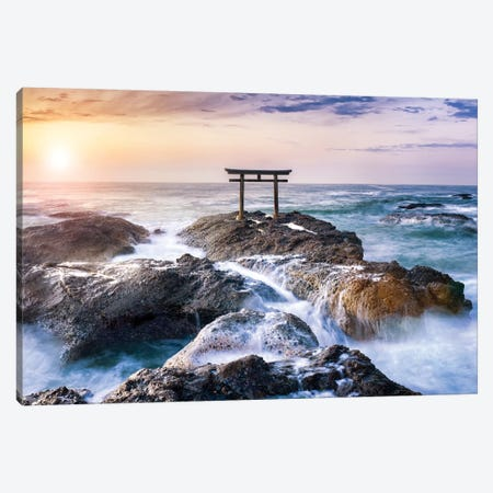 Oarai Isosaki Shrine Canvas Print #JNB79} by Jan Becke Canvas Art