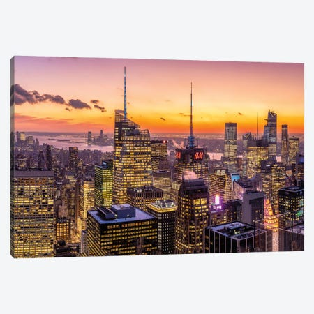 Manhattan Sunset View Canvas Print #JNB801} by Jan Becke Canvas Print