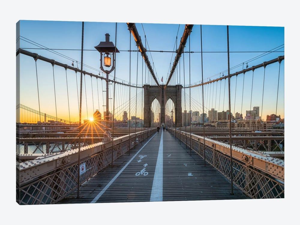 Brooklyn Bridge Sunrise In Winter by Jan Becke 1-piece Canvas Wall Art