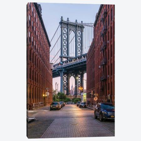 Manhattan Bridge, New York City, USA Canvas Print #JNB808} by Jan Becke Canvas Art Print