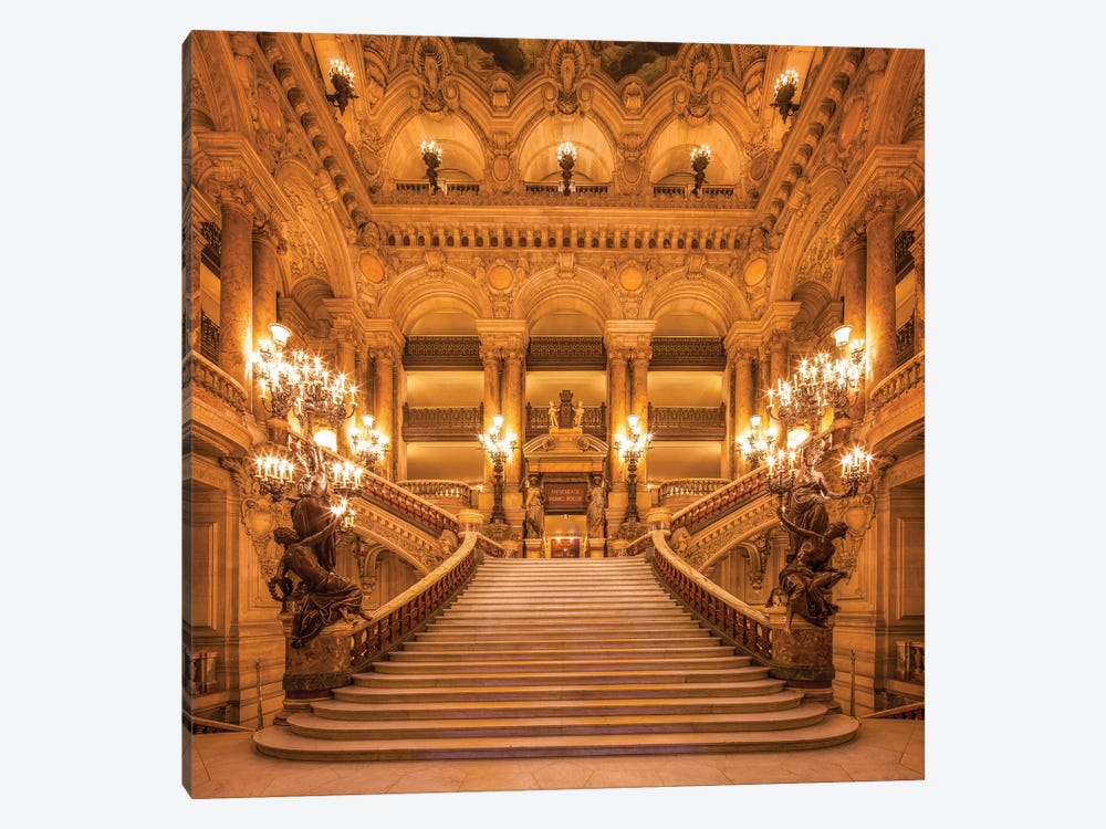 Opera House Palais Garnier by Jan Becke 1-piece Canvas Print