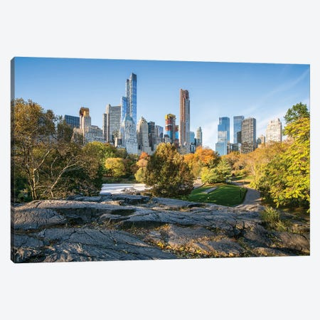 Manhattan Skyline Seen From Central Park, New York City, USA Canvas Print #JNB810} by Jan Becke Canvas Art