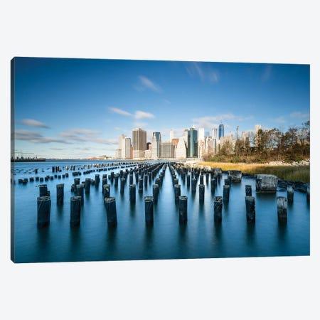 Manhattan Skyline Seen From Pier 1 In Brooklyn, New York City, USA Canvas Print #JNB814} by Jan Becke Canvas Print