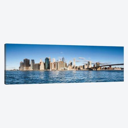 Manhattan Skyline Panorama In Winter Canvas Print #JNB815} by Jan Becke Canvas Art Print