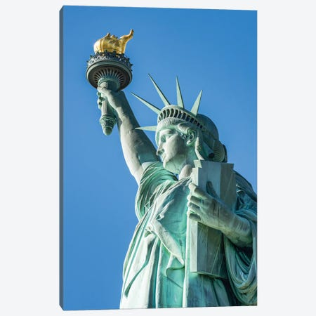 Statue Of Liberty, Liberty Island, New York City, USA Canvas Print #JNB816} by Jan Becke Canvas Art Print