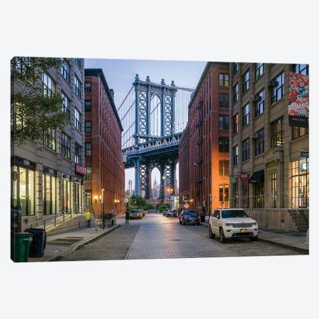Manhattan Bridge Seen From Dumbo District In Brooklyn, New York City, USA Canvas Print #JNB820} by Jan Becke Canvas Print