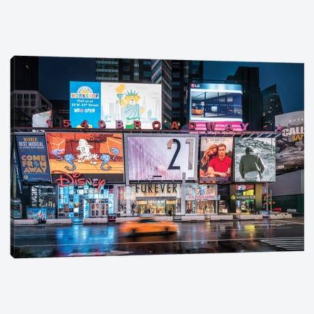 Broadway At Night, New York City, USA Canvas Print #JNB821} by Jan Becke Canvas Art Print