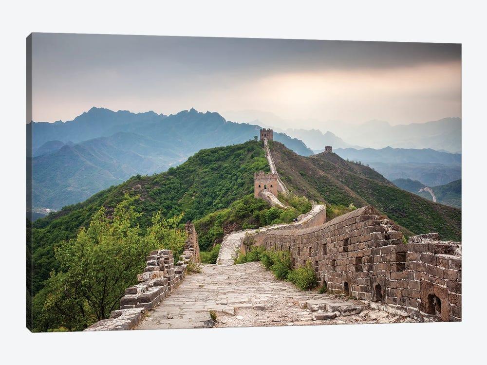 Great Wall Near Jinshanling, China by Jan Becke 1-piece Canvas Wall Art