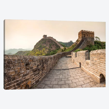 Historic Watch Towers Along The Great Wall, China Canvas Print #JNB823} by Jan Becke Canvas Art Print
