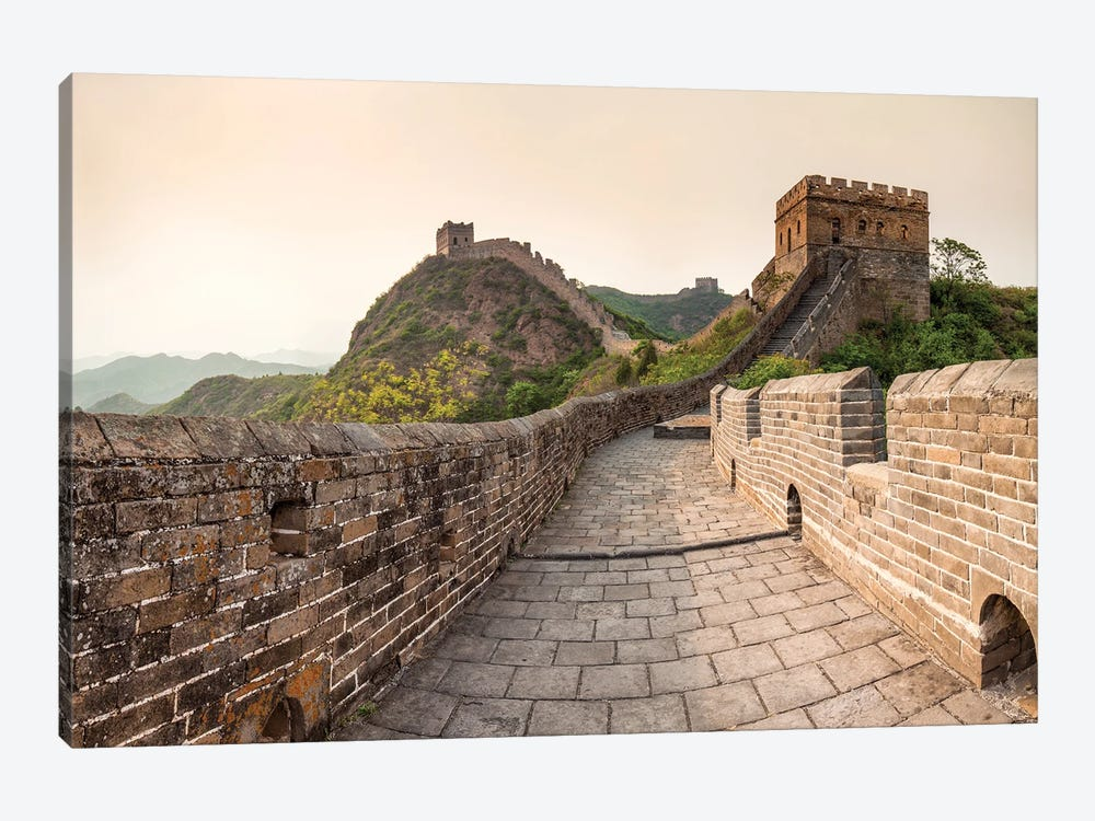 Historic Watch Towers Along The Great Wall, China by Jan Becke 1-piece Canvas Print
