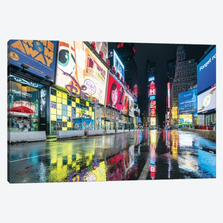 Broadway At Night, Times Square, New York City, USA Canvas Print #JNB828} by Jan Becke Canvas Print