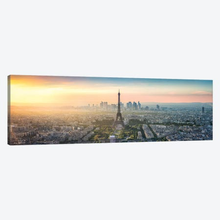Paris Skyline Panorama With Eiffel Tower Canvas Print #JNB82} by Jan Becke Canvas Print