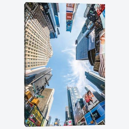Skyscraper Buildings At Times Square, New York City, USA Canvas Print #JNB835} by Jan Becke Art Print
