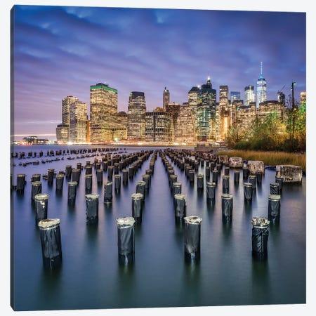 Manhattan Skyline Seen From Pier 1, Brooklyn, New York City, USA Canvas Print #JNB838} by Jan Becke Canvas Wall Art