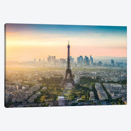 Paris Skyline With Eiffel Tower Canvas Print #JNB83} by Jan Becke Canvas Print