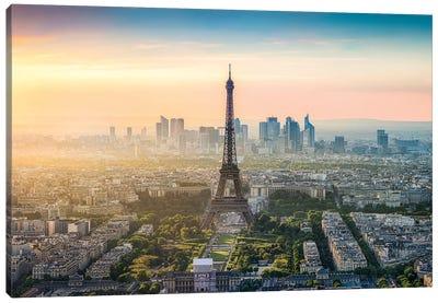 Paris Skyline With Eiffel Tower Canvas Art Print