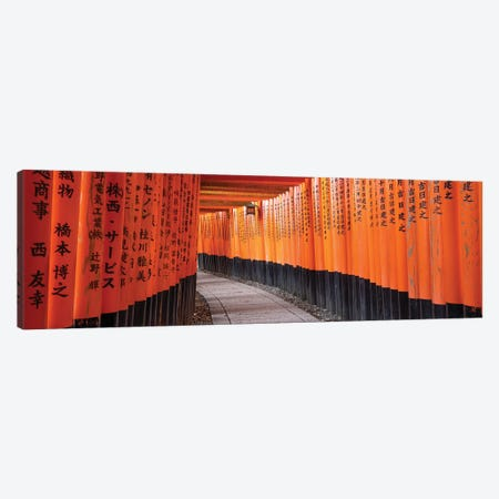 Red Torii Gates At The Fushimi Inari Taisha Shrine, Kyoto, Japan Canvas Print #JNB842} by Jan Becke Canvas Print