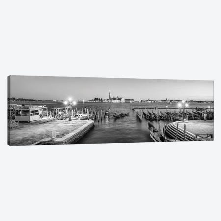 Panoramic View Of San Giorgio Maggiore At Night, Venice, Italy Canvas Print #JNB847} by Jan Becke Canvas Wall Art
