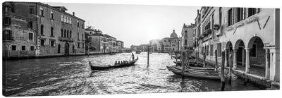 Gondola Ride Along The Grand Canal In Venice, Italy Canvas Art Print