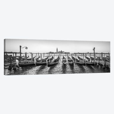 Panoramic View Of San Giorgio Maggiore With Gondolas, Venice, Italy Canvas Print #JNB849} by Jan Becke Canvas Art Print