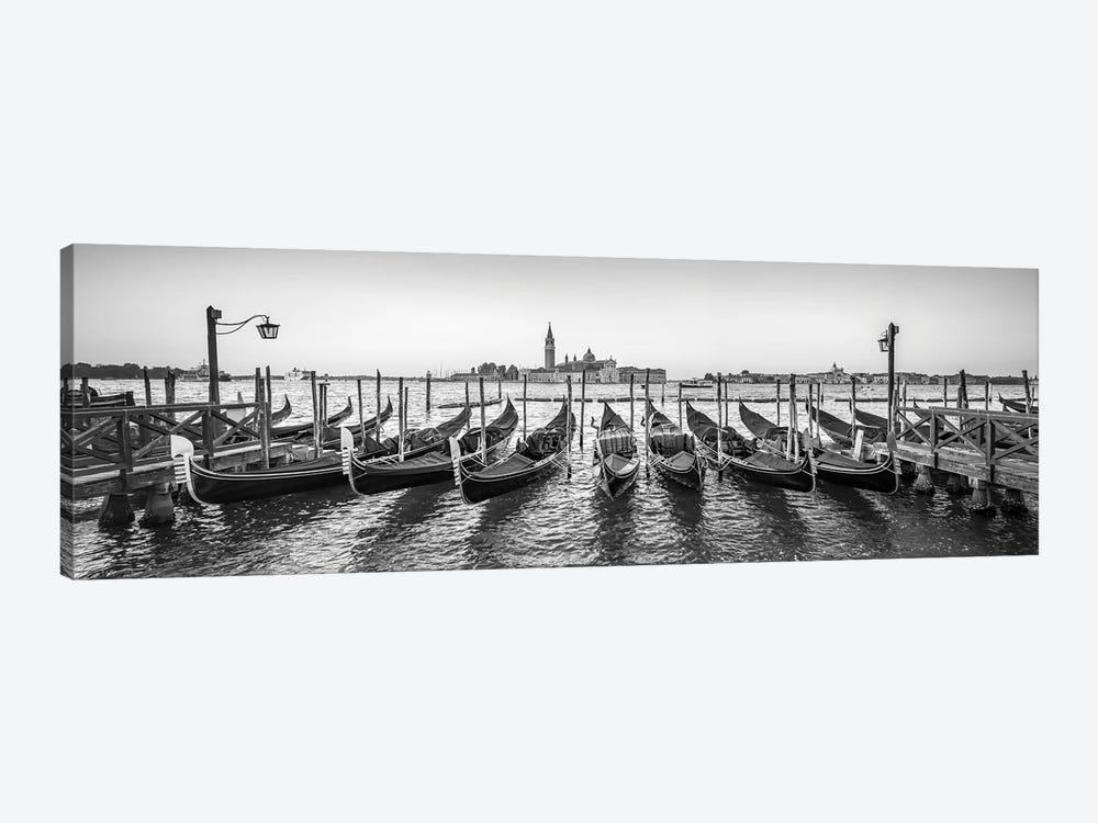 Panoramic View Of San Giorgio Maggiore With Gondolas, Venice, Italy by Jan Becke 1-piece Art Print